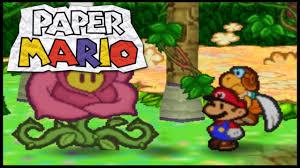 Flower Fields Paper Mario Lets Play Paper Mario N64 Part 28 Flower Fields