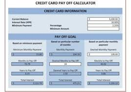 Credit Card Payoff Schedule Spreadsheet For Paying Off Debt And Credit Card Debt Payoff
