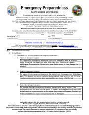 Emergency Preparedness Merit Badge Chart Emergency Preparedeness Pdf Emergency Preparedness Merit
