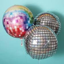 5pcs Aluminium Foil Balloons 4D <b>Disco Balloon</b> for Birthday Party ...