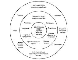 Системный подход в управлении организацией Рис 1 Факторы и переменные внешней и внутренней среды организации