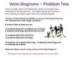 Examples Of Venn Diagram Word Problems Challenging Venn Diagram Word Problems Magdalene Project Org