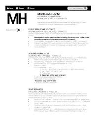 Pr Resume Examples Sample Public Relations Resum with Pr Resume Objective  Objectiv