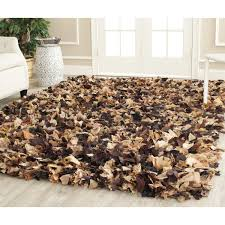 black and white shag rug  trendy interior or modern shag rugs