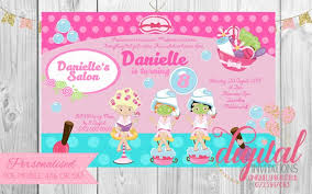 Makeup Spa Party Pamper Party Invitation