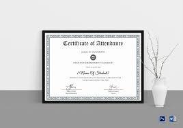 School Certificates Template College Students Attendance Certificate Template