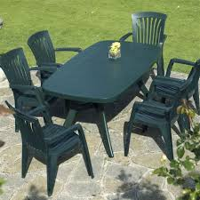 green plastic garden patio set ideas