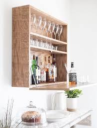 build a diy wall mounted bar cabinet
