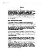 this assignment will describe and explain roles and introduction to sports psychology