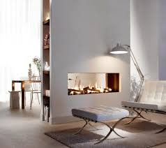 Accessories: Dining Room Lounge Double Sided Fireplace - Recessed Fireplace