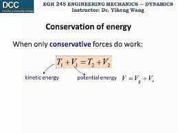 dynamics lecture 18 conservation of