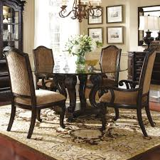 Round Glass Dining Room Table And  Chairs Starrkingschool - Glass dining room furniture sets