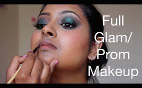 green black smokey eye prom makeover for indian tamil tan nc45 skin thuri makeup you