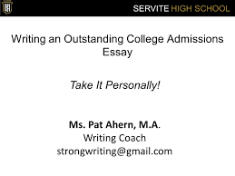 junior parent student college info night ppt  writing an outstanding college admissions essay