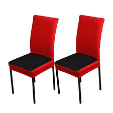 2pcs set breathable spandex stretchable dining chair seat covers dustproof ceremony chair slipcovers protectors wedding