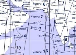 High And Low Altitude Enroute Chart Middle East Me H L 7 8 Jeppesen Me H L 7 8