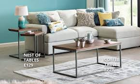 Turquoise Living Room Furniture Farringdon Acacia Living Room Collection Dunelm