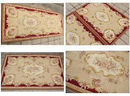 needlepoint rose fl rug