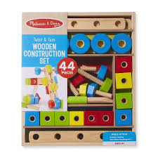 Melissa And Doug Wooden Games Adorable Melissa Doug Twist Turn Wooden Tools Construction Play Set 32