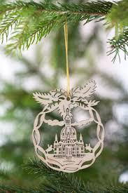 Weihnachtsbaumschmuck Kirche Aus Holz 8cm 4er Set