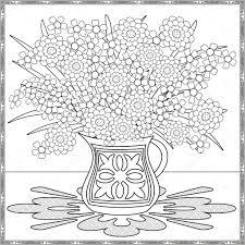 Immagini Fiori Disegno Vaso Disegni Da Colorare Pagina Decorativi
