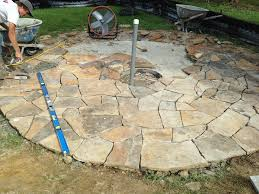flagstone patio with fire pit. 2500# Of Alabama Flagstone. Patio And Fire Pit Flagstone With T