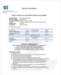 Transportation Quotation Format Sample 16 Service Quotation Templates Word Excel Pdf Free