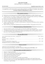 Nice Design Mba Resume Template Master Of Business Administration