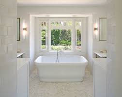 traditional bathroom lighting ideas white free standin. San Diego Subway Tiles For Bathroom Traditional With Bay Window Recessed Light Cross Handles All White Tile Lighting Ideas Free Standin T