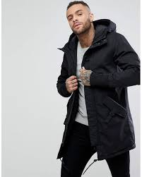 Pull&bear Quilted Parka With Hood In Black in Black for Men | Lyst & Pull&Bear | Quilted Parka With Hood In Black for Men ... Adamdwight.com
