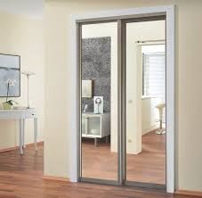 Sliding Closet Doirs Sliding Closet Doors With Melamine And Mirror Alumcomplete