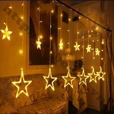 Đèn Led Trang Trí Hình Ngôi Sao - Đèn led rèm 12 ngôi sao - Đèn led nhấp  nháy trang trí hình ngôi sao