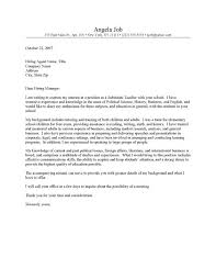 Cover Letter English Teacher Letters Font