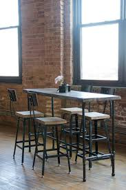 restaurant cafe chairs and tables. urban wood goods high top bar table with pipe legs in your choice of sizes or finishes restaurant cafe chairs and tables e