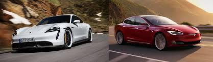 Porsche Model Chart Porsche Taycan Vs Tesla Model S Spec For Spec Price For