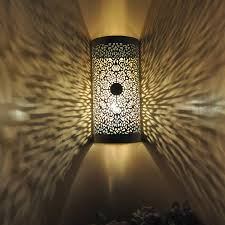 Moroccan Porch Light Lalhaveli Moroccan Metal Silver Outdoor Wall Porch Light