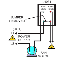 how to install and wire the honeywell l4064b combination furnace honeywell l4064b low voltage installation the diagram