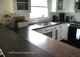 country style kitchens design with white wooden dark brown walnut butcher block countertops bro