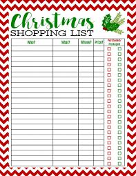 Printable Christmas Gift List Template Christmas List Printable Design Checklist Template Free Gift