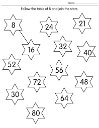 Follow the table of 8 and join the stars | Download Free Follow ...