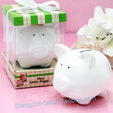 baby birthday party piggy bank baby shower favor gift tc018
