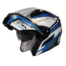 Zox Condor Svs Modular Helmet Delta Blue Leather King Kingspowersports