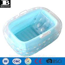 inflatable bathtub friendly thick vinyl baby bath tub folding soft plastic inflatable bathtub for toddler