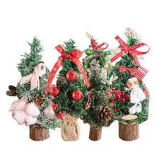 Special Mini Christmas Trees Xmas Decorations A Small Pine Tree Placed On Desktop Christmas Festival Ornaments For Home Office Christmas Holiday