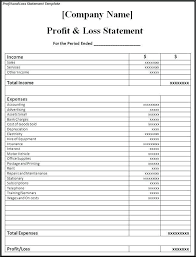 Free Printable Profit And Loss Statement Form 35 Profit And Loss Statement Templates 333368906121 U2013