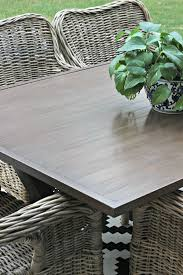 metal patio table makeover with gel
