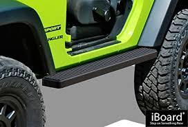 aps iboard running boards 4 matte black custom fit 2007 2018 jeep wrangler jk sport utility 2 door nerf bars side steps side bars