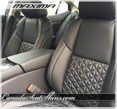 2016 Nissan Maxima Leather Interior - Modern Quilted ... & 2016 Nissan Maxima Leather Interior - Modern Quilted - canadaseatskins.com # leather Adamdwight.com