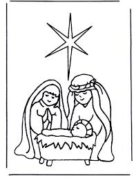 Kleurplaat Kribbe Bijbelkleurplaten Kerst
