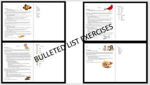 Microsoft Word 2016 Bulleted Lists Exercises 4 By Twin Business